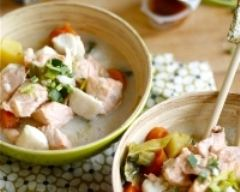 Recette nage de poissons et petits légumes d'hiver