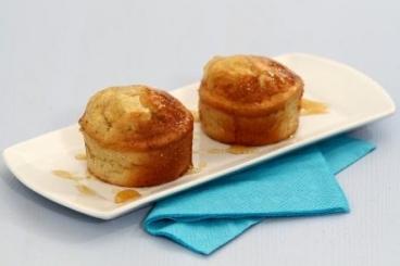 Recette de mini-cake à la banane, caramel de miel facile et rapide