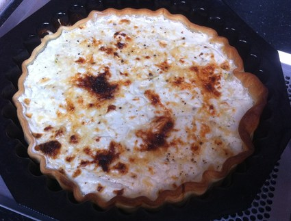 Recette de tarte aux courgettes, chèvre frais et miel
