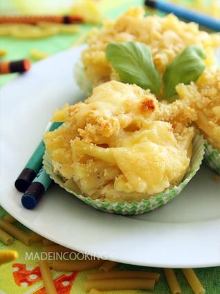 Recette de muffins de macaroni au fromage