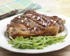 Recette côte de boeuf grillée, sauce choron et potatoes épicées