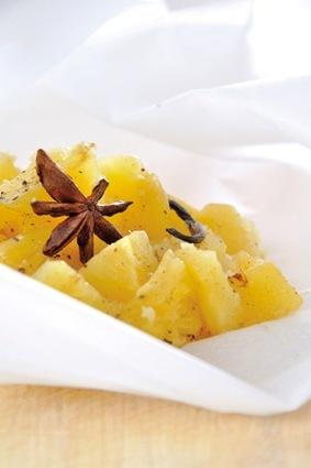 Recette de papillote d'ananas aux épices
