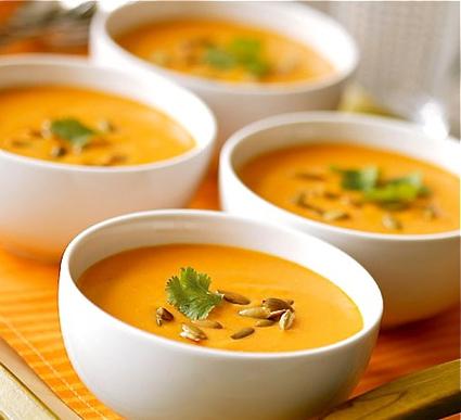 Recette de soupe des 4 c : carottes-coco-curry-coriandre