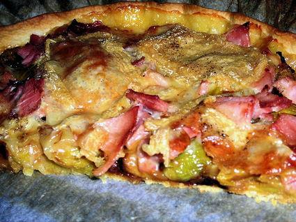 Recette de tarte maroilles et poireaux