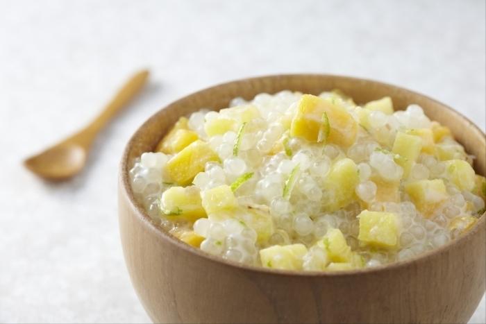 Recette de perles de tapioca au lait de coco et fruits exotiques facile ...