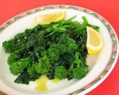 Recette salade tiède de rapini