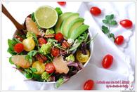 Recette de salade avocat, pamplemousse, tomates cerise détox