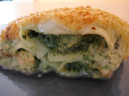 Recette de cannellonis au saumon et aux épinards