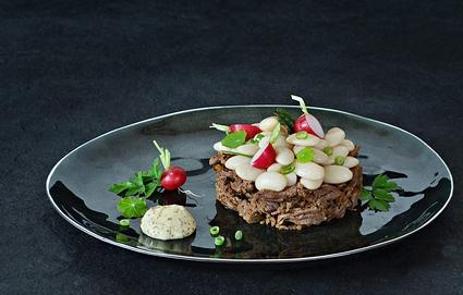 Recette de joues de bœuf et salade de haricots tarbais