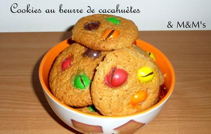 Recette de cookies au beurre de cacahuètes et m&m's