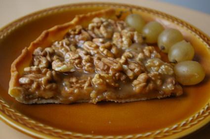 Tarte aux noix et au caramel