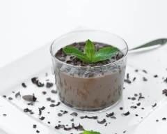 Recette verrines de mousse choco-menthe