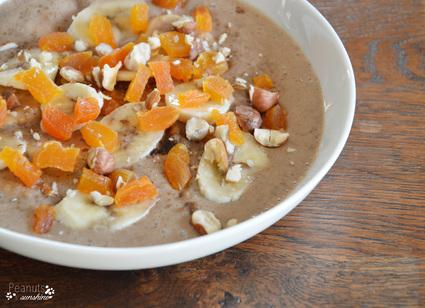 Recette de porridge au quinoa et aux noisettes