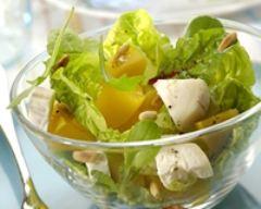 Salade de fromage de chèvre frais et pêches | cuisine az