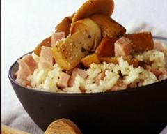 Recette risotto aux cèpes et aux dés de jambon