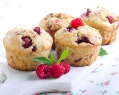 Recette muffins chocolat blanc et framboises sans gluten