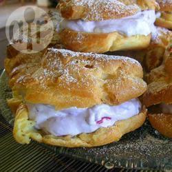 Recette choux à la crème aux myrtilles – toutes les recettes ...