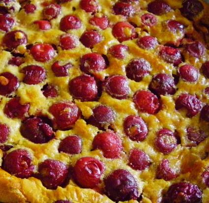 Clafoutis cerises et sucre roux