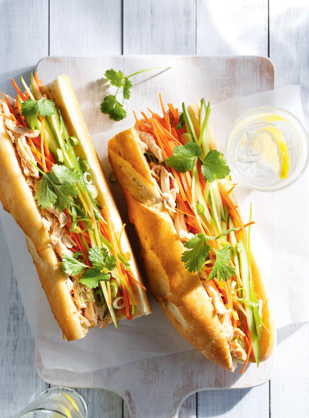 Sandwich au poulet à la vietnamienne | ricardo