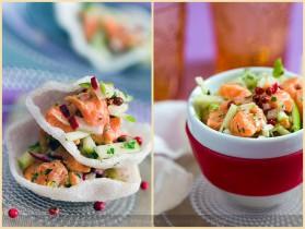 Tartare de saumon au gingembre et pomme verte pour 4 personnes ...