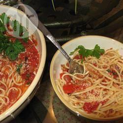 Recette pâtes à la tomate et au bacon – toutes les recettes allrecipes