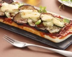 Recette pizza légère aux légumes