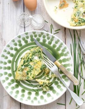 Omelette ciboulette et mozzarella pour 4 personnes