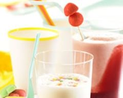 Recette smoothies banane-fraise et ananas-coco