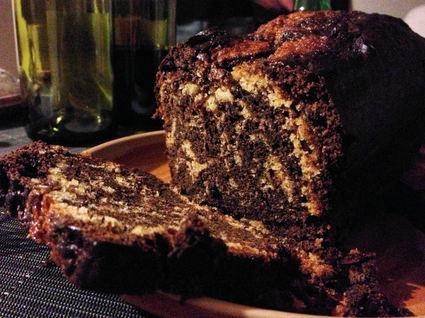 Recette de marbré chocolat miel