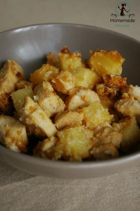 Recette de poulet amandes et ananas