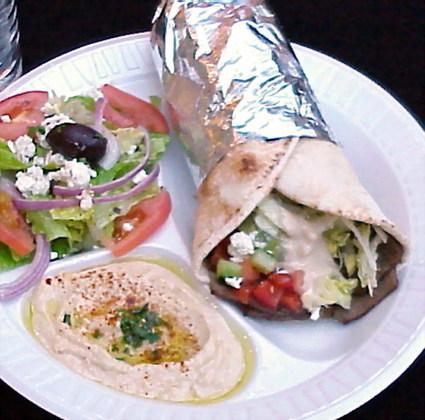 Recette de sandwich grec