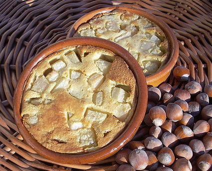 Recette de clafoutis aux poires et aux noisettes