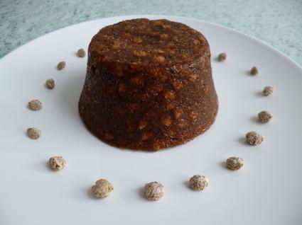 Recette de gâteau cru pomme pruneau aux céréales de son de blé ...