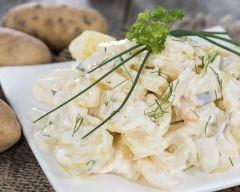 Recette salade terre-mer, sauce yaourt