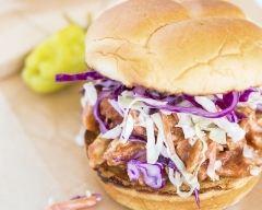 Recette burger au poulet, sauce barbecue