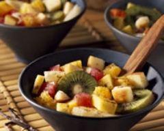 Recette salade de fruits exotiques à la vanille