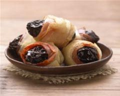 Recette croustillant de pruneaux d'agen igp et jambon de bayonne