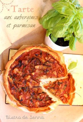 Recette de tarte aux aubergines et parmesan