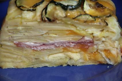 Recette de gâteau invisible de pommes de terre, courgettes, bacon ...