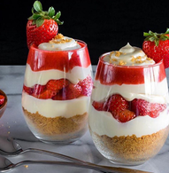 Recette de parfait à la fraise