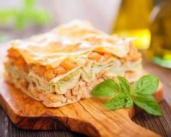 Recette lasagnes au saumon, mozzarella et poireaux au four