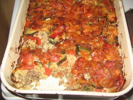 Recette de gratin au boeuf et légumes