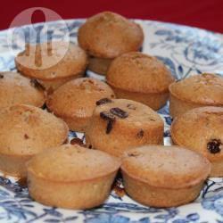Recette mini gâteaux à la fleur d'oranger, raisins et pépites de ...