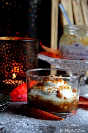 Verrines de noël au yaourt et confiture de poires