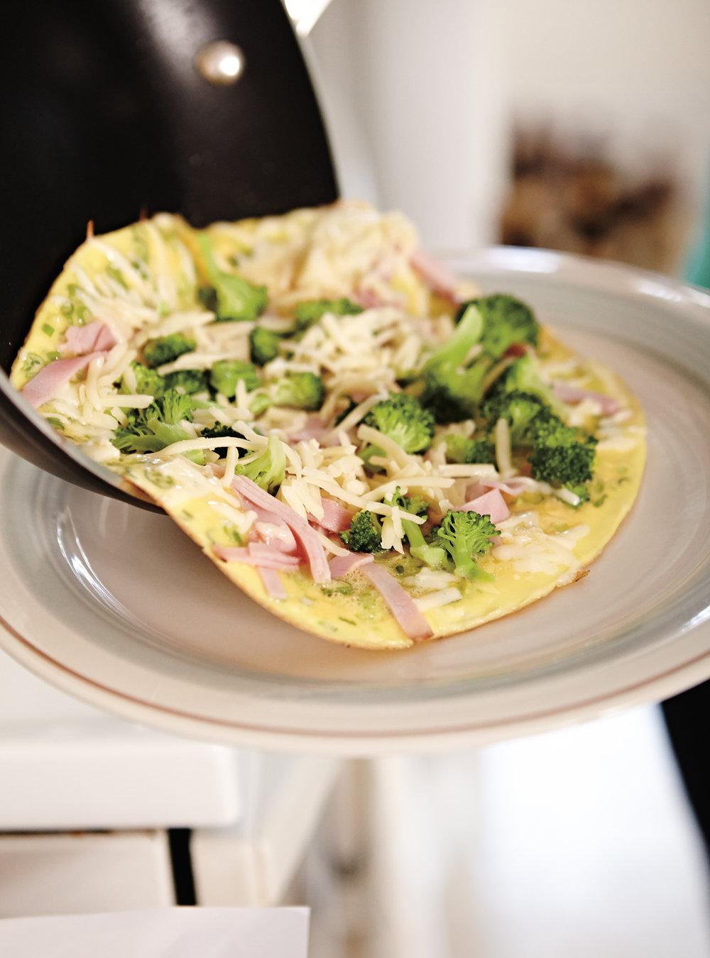Omelette jambon-brocoli | ricardo