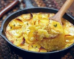 Recette gratin de pommes de terre au vin blanc