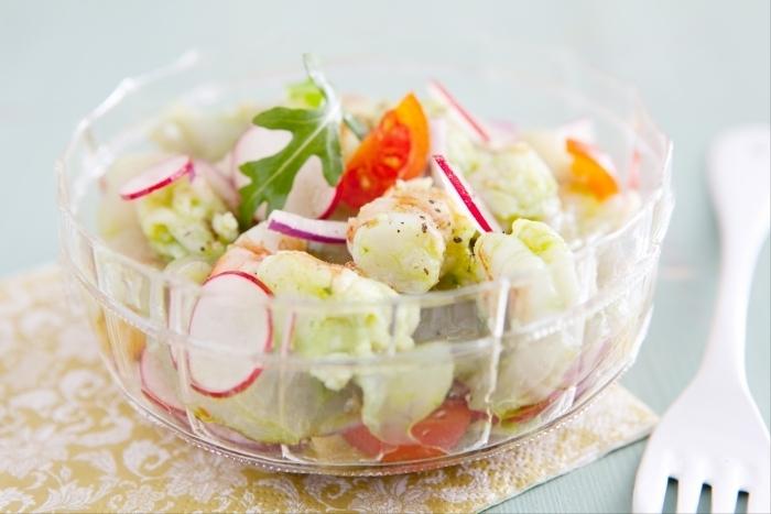 Recette de ceviche verde bar et gambas, légumes croquants facile ...