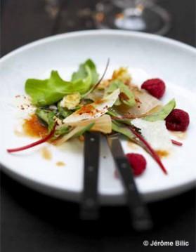 Salade de marlin fumé, framboises pour 6 personnes