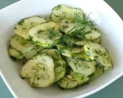 Recette salade de concombres à l'aneth