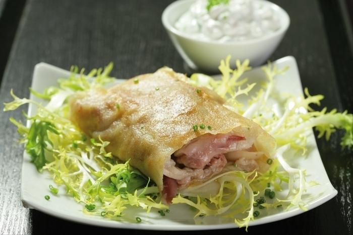 Recette de croustillant de pied de cochon, sauce tartare facile